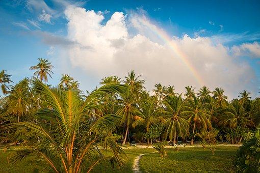 Meeru Island, Rainbow, Maldives
