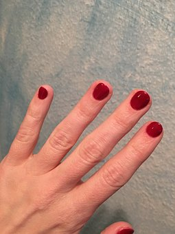 Red, Fingernails, Painted Red