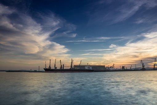 Port Burgas, Port, Harbor, Bulgaria, Sea, Burgas, Black