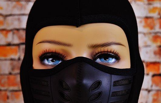 Woman, Ski Mask, Eyes, Headwear, Cap, Doll