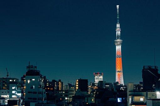 Tokyo, Sky Tree, Japan, Cityscape, City, Architecture