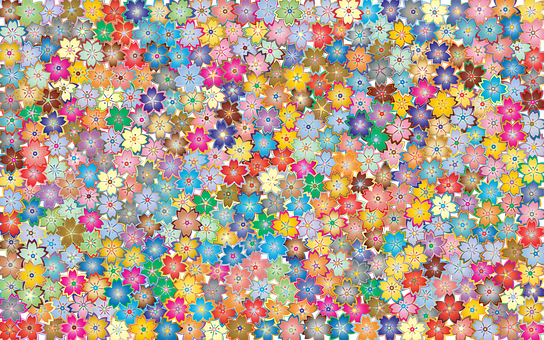 Floral, Flowers, Abstract, Art, Colorful, Many, Spring