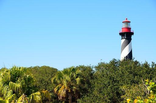 St Augustine, Florida, Lighthouse, Beacon, Landmark