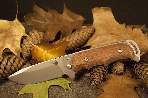 Leaves, Knife, Autumn, Hunting, Survival