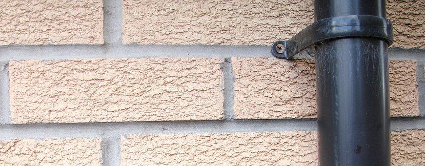 Drain Pipe, Wall, Header, Bricks, Banner, Texture