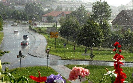 Giengen, Summer Rain, Rain, Raindrop, Thunderstorm