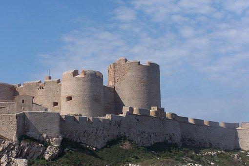 Castle, Ile, Yew, Mediterranée, Island, France, Sea