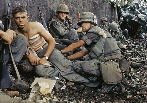 Military, Vietnam War, Us Soldier Wounded, 1967