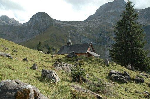 Mountains, Chapel, Church, Mountain Chapel, Alpine