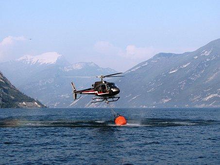 Garda, Helicopter, Delete, Fire, Rescue, Water, Brand
