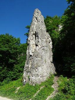 Rock, Dolinka Będkowska, Landscape, Nature