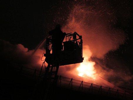 Firefighter, Fire, Burning, Emergency, Fireman, Helmet