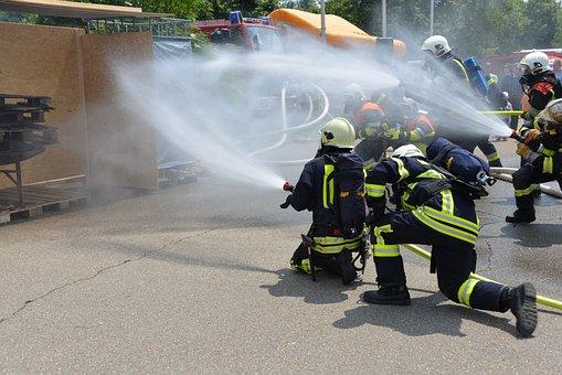Feuerloeschuebung, Fire, Respiratory Protection