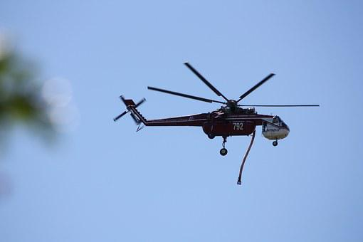 Helicopter, Fire, Water Drop, Aircraft, Flight, Flying