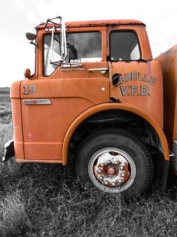 Fire, Engine, Antique Truck, Old Fire Engine