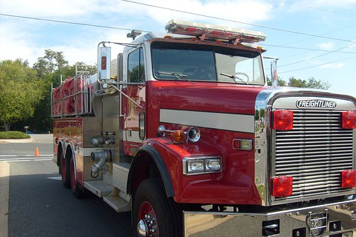 Fire Truck, Fire Engine, Red, Emergency, Truck, Car