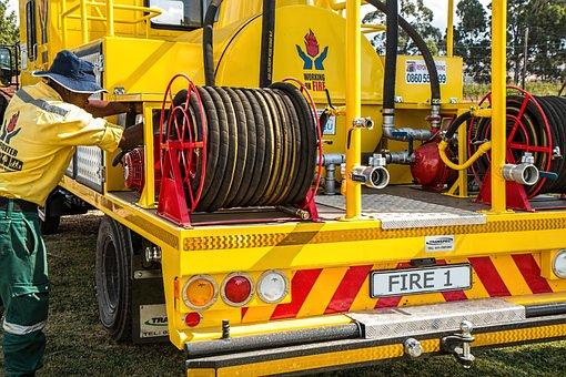 Firefighter, Fire Equipment, Fireman, Hose