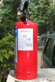 Fire Extinguisher, Safety, Device, Emergency, Red