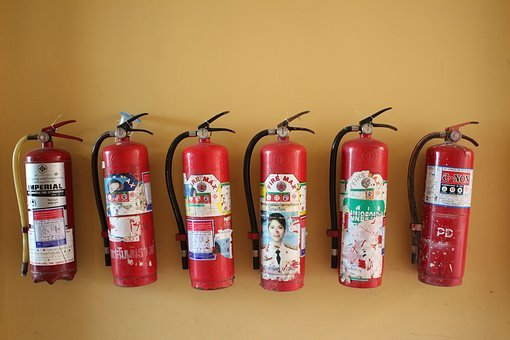 Fire Extinguisher, Security, Red, Sure, Delete, Fire