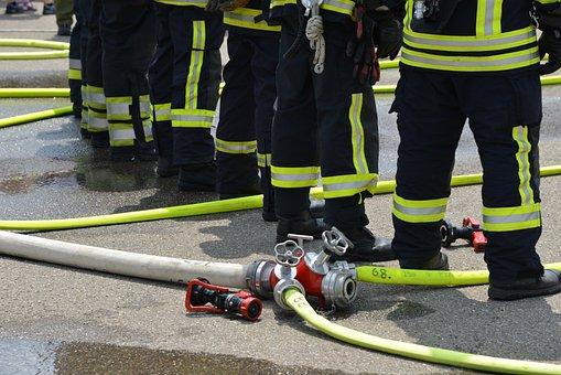 Fire, Feuerloeschuebung, Firefighters, Delete, Use