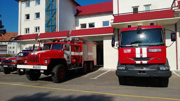 Firehouse, Fire Station, Fire Car, Emergency
