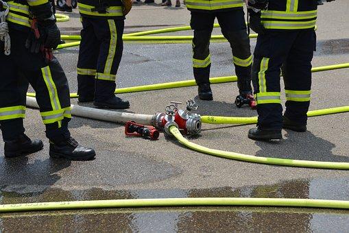 Fire, Feuerloeschuebung, Firefighters, Delete