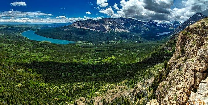 Glacier National Park, Montana, Panorama, Mountains