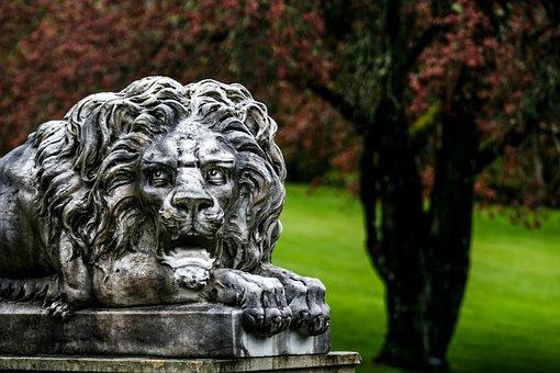 Lion, Sculpture, Head, Statue, Antique, Decoration