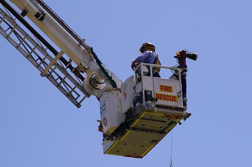 Fireman, Fire Rescue, Height, Rescue, Cherry-picker