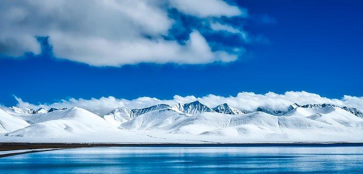 China, Mountains, Tourism, Panorama, Snow, Winter, Ice
