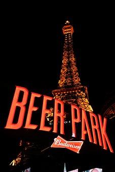 Las Vegas, Paris, Eiffel Tower, Night, Landmark, Hotel