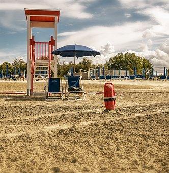 Beach, Sand, Lifeguard On Duty, Lifeguard, Sea