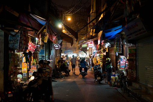 Vietnam, Street, Hanoi, Asia, City, Market, Culture