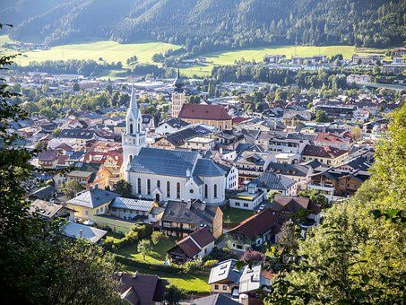 Schladming, City, Community, Village, Homes, Mountains