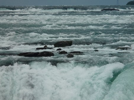 Niagara Falls, Niagara, Water, Waterfall, Border