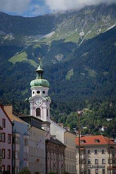 Innsbruck, Nordkette, City View, Houses, Dom, Cityscape
