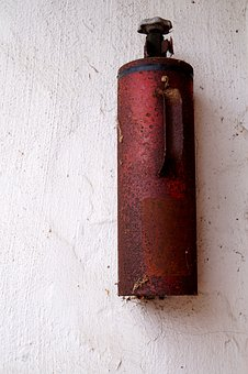 Fire Extinguisher, Old, Rusted, Forget, Security, Decay