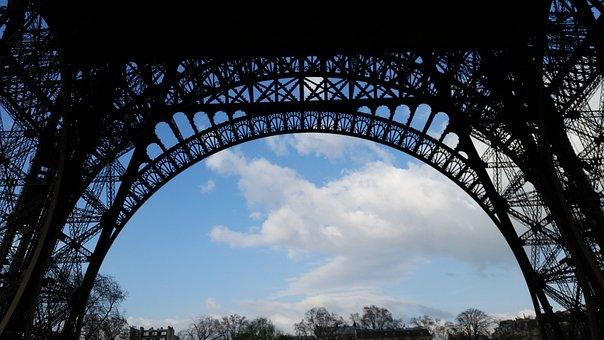 Paris, Eiffel Tower, Base, France, Tour Eiffel, Travel