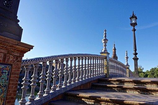 Bridge, Balustrade, Steps, Plaza De Espania, Handrail