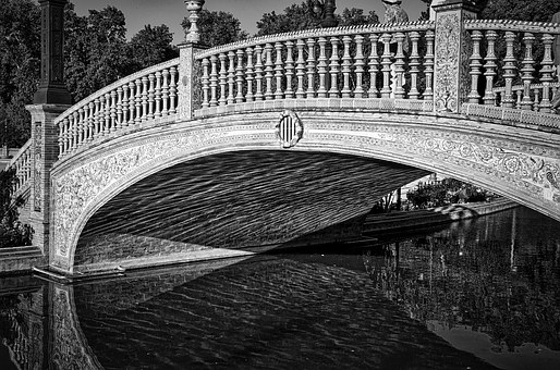Plaza De Espania, Bridge, Seville, Historic, Famous