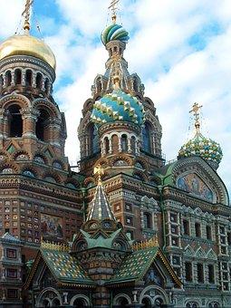 St Petersburg, Church, Blood, Saviour, Russia