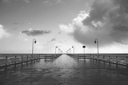 Boardwalk, Pier, Water, Sea, Coast, Ocean, Relaxation