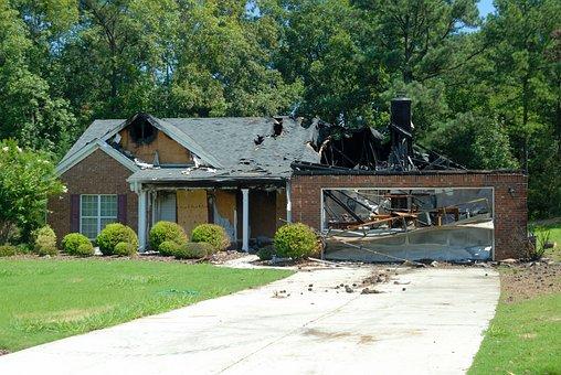 House Fire, Home, Destruction, Smoke, Fireman