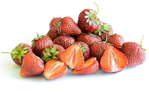 Juicy And Fresh Strawberries, Strawberry, Isolated