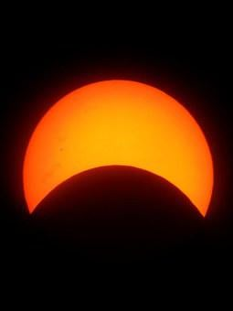 Solar Eclipse, Sun, Moon, Natural Spectacle