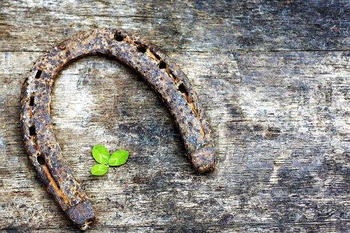Horseshoe, Shamrock, Symbol, Day, Green, Holiday, Leaf