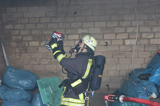 Fire, Fire Fighter, Thermal Imaging Camera, Helm