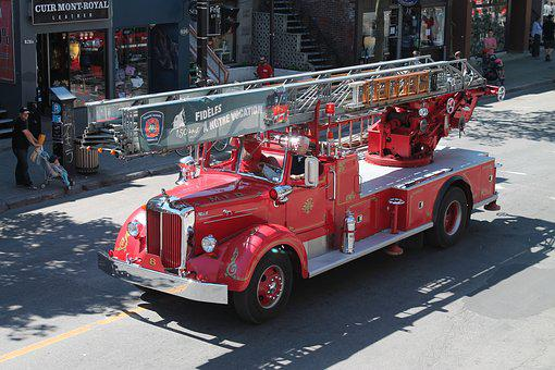 History, Firefighter, Truck, Older Vehicles, Rescuer
