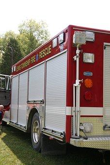 Fire, Truck, Red, Vehicle, Emergency, Fireman, Rescue