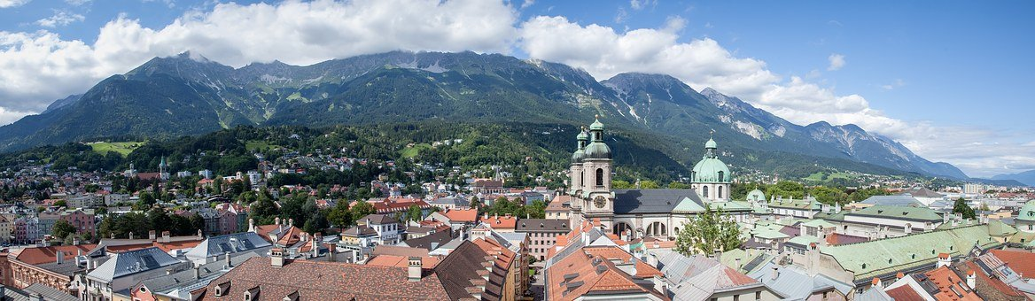Summer, Innsbruck, Tyrol, Panorama, Austria